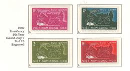 South Viet Nam - 1959 - SC 112 - 115 - Agrarian Reforms - MNH - Vietnam