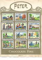 Images Chocolat Peter. 12 Jeux Nationaux Suisses. Collées Sur Feuille Album.  Envoi 1,72 €. - Autres
