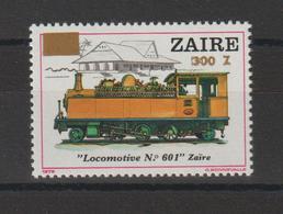 Zaire 1990 Trains Surchargé 1289 ** MNH - Zaire