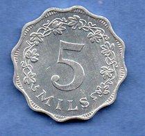 Malte -  5 Mils 1972 -  Km # 7  --  état SUP - Malta