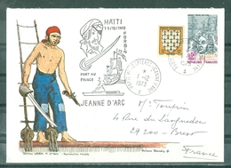 MARCOPHILIE - P.H.JEANNE D'ARC - FORBIN Escale à HAÏTI 1 - 5 /12/1973 PORT AU PRINCE Cachet Rond Du 1 - 12 - 1973. - Marcophilie (Lettres)