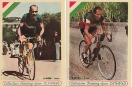 CYCLISME - Lot De 4 Photos - Collection Des Chewing Gum Olympiad : BARTALI - MAGNI - BOBET - HASSENFORDER - Cyclisme