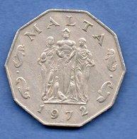 Malte -  50 Cents 1972 -  Km # 12 --  état TTB - Malta