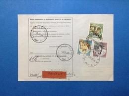 CASTELLO 50 + 250 + 1000 SU BOLLETTINO PACCHI DEL 1990 - 6. 1946-.. Republic