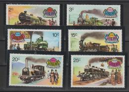 Libéria 1973 Trains Série 599-604 6 Val ** MNH - Liberia