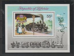 Libéria 1973 Trains BF 65 ** MNH - Liberia