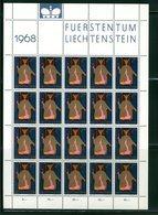 LIECHTENSTEIN - FOGLIO INTERO COMPLETO - NON PIEGATO - MNH LUSSO - 1968 - FUERSTENTUM - Definitives Religion 3v - Blocchi & Fogli