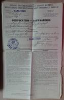 Villers L'Evèque - Armée Belge - Convocation Des Militaires En Congé Illimité - En 1922 - Documentos