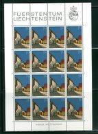LIECHTENSTEIN - FOGLIO INTERO COMPLETO - NON PIEGATO - MNH LUSSO - 1978 - Definitives  Architecture 12v - Blocchi & Fogli