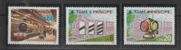 Sao Tome Et Principe 1986 Trains Série 846-48 3 Val ** MNH - Sao Tome Et Principe