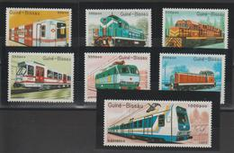 Guinée Bissau 1989 Trains Série 521-27 7 Val ** MNH - Guinea-Bissau