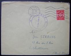 Verdun 1952 Cachet Du 45eme Lettre En Franchise Pour Mulhouse - Marcophilie (Lettres)