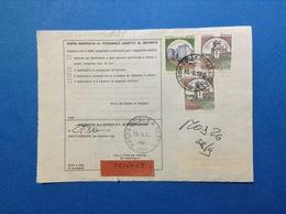 CASTELLO 400 + 1000 X 2 SU BOLLETTINO PACCHI DEL 1990 - 6. 1946-.. Republic
