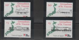 Saint Vincent Et Grenadines 1991 Trains Série 660-63 4 Val ** MMH - St.-Vincent En De Grenadines