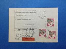 CASTELLO 800 X 3 SU BOLLETTINO PACCHI DEL 1990 - 6. 1946-.. Republic