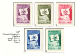 South Viet Nam - 1957 - SC 68 - 72 - Colombo Conference - MNH - Viêt-Nam