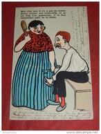 """FANTAISIES - HUMOUR -  ILLUSTRATEUR Non Signé - """" Il N'y A Pas De Femme Douce Comme Une Tourterelle - 1906 - Altre Illustrazioni"""