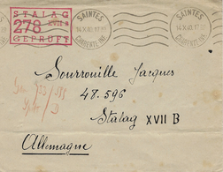 1940- Enveloppe De Saintes ( Charente Maritime ) Pour Un P G Français Au Stalag XVII B - Guerre De 1939-45