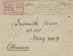 1940- Enveloppe De Saintes ( Charente Maritime ) Pour Un P G Français Au Stalag XVII B - WW II