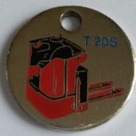 Jeton De Caddie - FENWICK - T 20S - Equipements Industriels - Chariots élévateurs - SAINT QUENTIN EN YVELINE- En Métal - - Einkaufswagen-Chips (EKW)