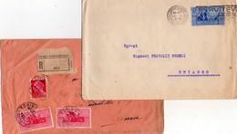 ITALIA Storia  Postale  Regno   Lotto 2 Buste  Virgilio - 1900-44 Vittorio Emanuele III