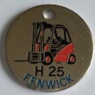 Jeton De Caddie - FENWICK H 25 - En Métal - - Einkaufswagen-Chips (EKW)