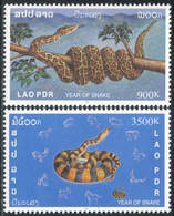 242 - Laos 2001  YT 1414-15 ; Mi# 1769-70 **  MNH  Chinese New Year: Year Of The Snake - Laos