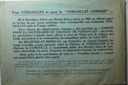 LUNEVILLE Comité De M.-et-M. Pour La Sauvegarde Des Châteaux De Versailles Et De Lunéville (5 Cartes) - Luneville