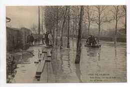 - CPA SAINT-DENIS (93) - CRUE DE LA SEINE - La Rue De La Briche - Le 28 Janvier 1910 - Edition Le Deley - - Saint Denis