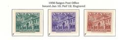 South VietNam - 1956 - S 11-13 Mi 108-110 Y 38-40 Sc 36-38 - Post Office - MNH - Viêt-Nam