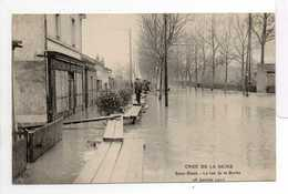 - CPA SAINT-DENIS (93) - CRUE DE LA SEINE - La Rue De La Briche - 28 Janvier 1910 - Edition Le Deley - - Saint Denis