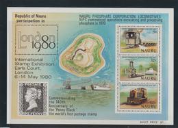 Nauru 1980 Trains Phosphates BF 3 ** MNH - Mineralien