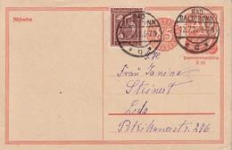 ALLEMAGNE  1922   ENTIER POSTAL/GANZSACHE/POSTAL STATIONERY   CARTE DE BAD SALZBRUNN - Germany