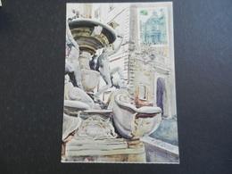 19942) ITALIA 85 ESPOSIZIONE FILATELICO NUMISMATICA BIGLIETTO INGRESSO NON VIAGGIATA MA FRANCOBOLLO TIMBRATO - Mostre, Esposizioni