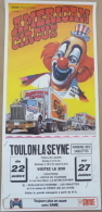 Affichette AMERICAN CIRCUS 1986 - Toulon La Seyne - Posters
