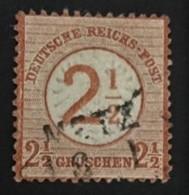 1874 Aufdruck 2½ Gr. In Markenfarbe Mi. 29 Stempel Metz - Allemagne