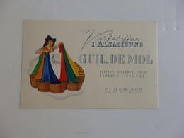 Carte De Visite De Verfstoffen L'Alsacienne Guil. De Mol Berchem Brussel Belgique. - Visiting Cards