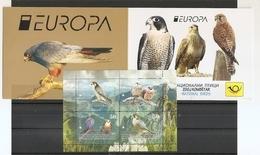 MACEDONIA NORTH,MAZEDONIEN, 2019, EUROPA CEPT,BIRDS,VOGEL,FALCO,,BOOKLET,MNH - Águilas & Aves De Presa