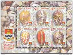 KIRIBATI, 2003 COWRIE SHELLS MINISHEET MNH - Kiribati (1979-...)