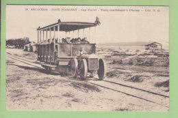 ARCACHON : Tram Conduisant à L'Océan. Tramway Tracteur. TBE. 2 Scans. Edition N G - Arcachon