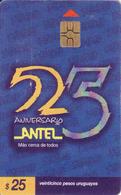 Uruguay, 25 Aniversario Antel, Chip - Uruguay