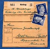 Colis Postal  -  Départ Nortrup - Pour Spittel - Waldheim - Duitsland