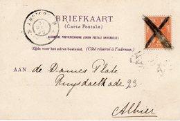 31 DEC 1899 Ansicht Van Amsterdam Centraal Station Lokaal Verzonden (zegel Gekruist Vernietigd) - Storia Postale