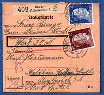 Colis Postal  -  Départ Essen Altenessen  - Pour Spittel - Waldheim - Duitsland