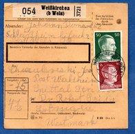 Colis Postal  -  Départ Weisskirchen - Pour Spittel - Waldheim - Duitsland