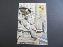 19942) ITALIA 85 ESPOSIZIONE FILATELICO NUMISMATICA BIGLIETTO INGRESSO VIAGGIATA CON ERINNOFILO - Mostre, Esposizioni