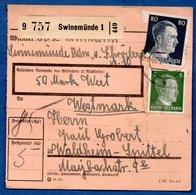 Colis Postal  -  Départ Swinemünde - Pour Spittel - Waldheim - Duitsland