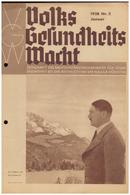 Dt- Reich (008122) Zeitschrift Volks- Gesundheits- Wacht, 1938 NR 2 Januar, Herausgeber Sachverständigenrat NSDAP - German