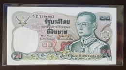 Thailand Banknote 20 Baht Series 12 P#88 SIGN#59 Prefix 0Cข UNC - Thailand