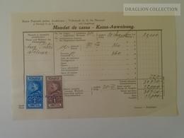 KA402.6 Romania Volksbank Neuarad - Aradul-Nou - Mandat De Cassa- Kassa Anweisung Arad - Felnac -stamp Ca 1929 - Facturas & Documentos Mercantiles